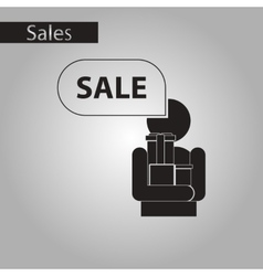 Black and white style icon human gifts discounts vector