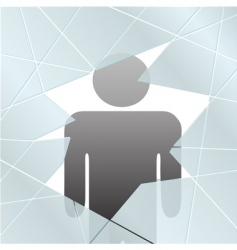 broken glass symbol vector image vector image