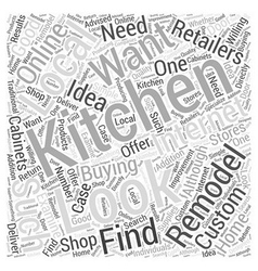 Buying what you need to remodel your kitchen word vector