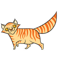 Cartoon tabby cat vector