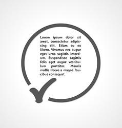 check symbol and circle vector image