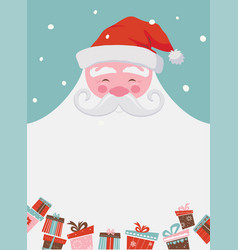 christmas santa poster or a card with a place for vector image vector image