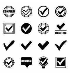 Confirm icon set vector image