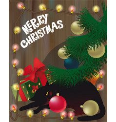 cristmas cat vector image vector image