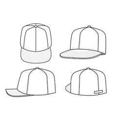 Green rap cap vector