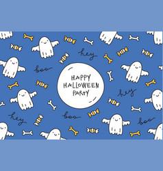 halloween greeting card vector image vector image
