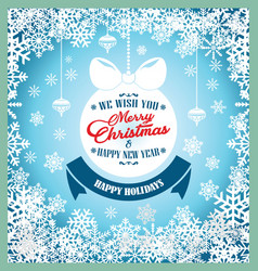 happy new year happy holidays and merry christmas vector image