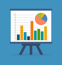 Infographics statistics data concept Flat design vector image vector image