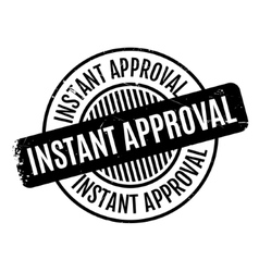 Instant approval rubber stamp vector