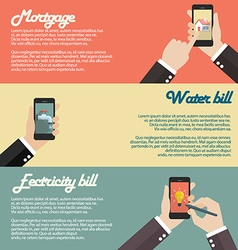 Internet banking mobile payments concept vector image vector image