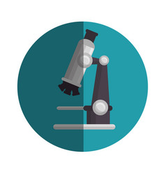 Microscope medical emblem icon vector