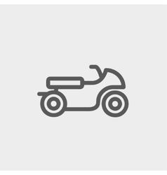 Motor thin line icon vector
