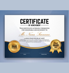 Multipurpose professional certificate template vector