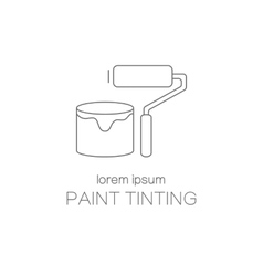 Paint tinting logotype design templates vector