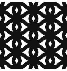 Simple star shape black and white seamless pattern vector image