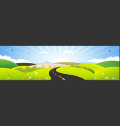 summer and spring season horizontal banner vector image vector image