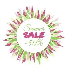 Summer sale floral frame vector