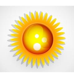 sunshine icon vector image vector image