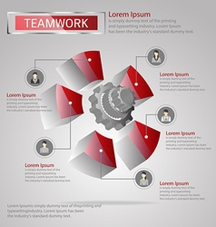 Teamwork infographic vector