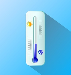 Thermometer flat design vector