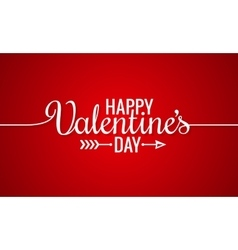 Valentines Day Line Vintage Lettering Background vector image vector image