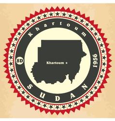 Vintage label-sticker cards of sudan vector