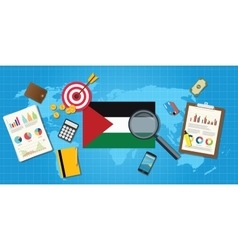 Palestine economy economic condition country with vector