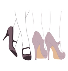 Fancy feet vector