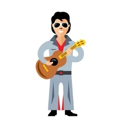 Musician parody artist with a guitar Rock vector image