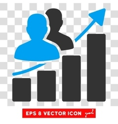 Audience growth eps icon vector