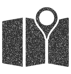 Map Grainy Texture Icon vector image