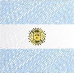Argentina flag vector image