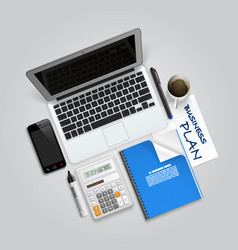 business collage items vector image