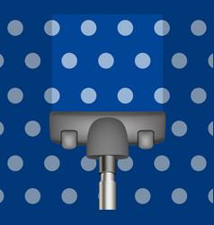 vacuum cleaner drains blue carpet vector image