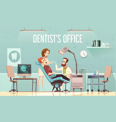 Dentists office vector