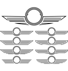set of insignias vector image