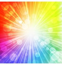 rainbow sun vector image