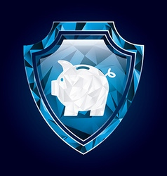 Shield insurance vector