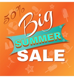 Summer big sale promotion vector
