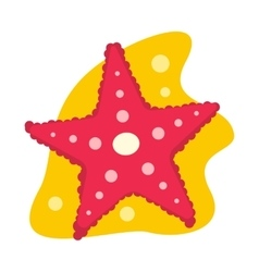 Starfish flat icon vector