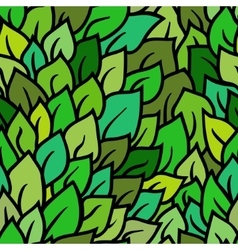 Seamless green leaves pattern vector