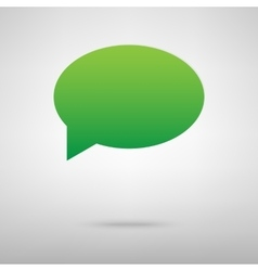 Speech bubble green icon with shadow vector