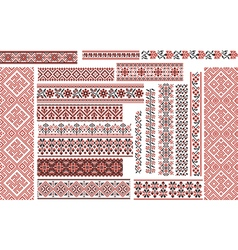 Set of ethnic patterns for embroidery stitch vector