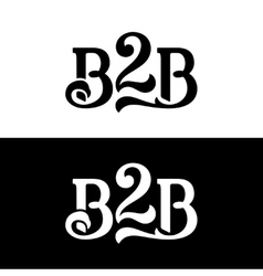 B2b logo design template on white and black vector