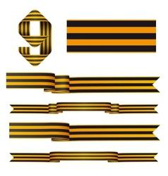 9may ribbons vector image vector image
