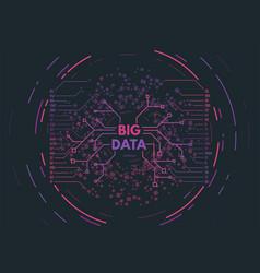 Big data concept vector