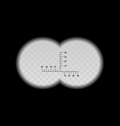 Binocular scale military view with optical sight vector