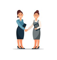 Business people cooperation agreement handshake vector