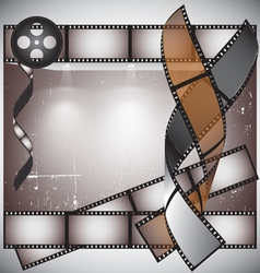 Camera film roll background vector image vector image
