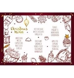 Christmas menu brochure design vector